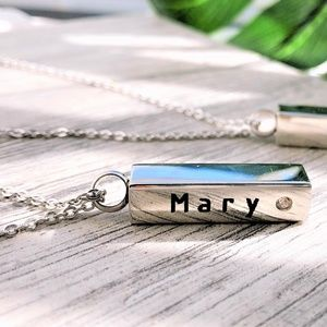 Jewelry - Lover Pet lost urn ashes cremation bar necklace
